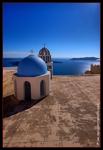 Blue domed Chapel, Thira | by High Peak and Lowland