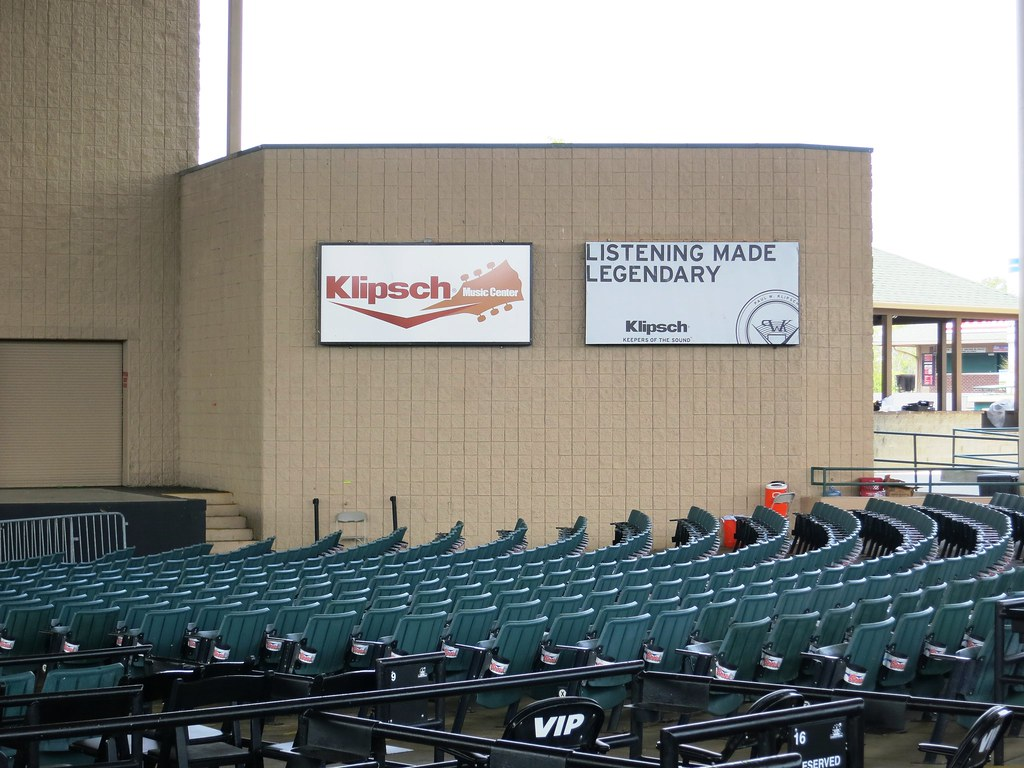 klipsch music center. klipsch advertising lighted panels at music center ~ noblesville, in | by redirections sign