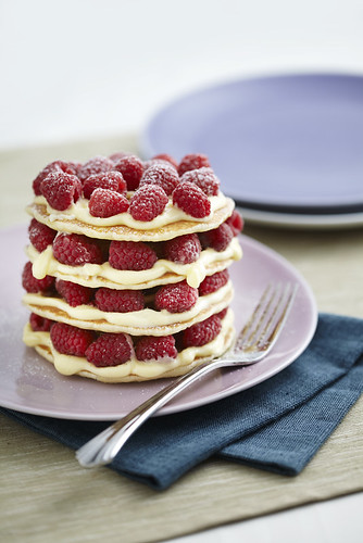 White Chocolate Raspberry Coconut Cake
