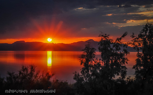 Sunset over Great Salt Lake | by Blue Falcon Foto