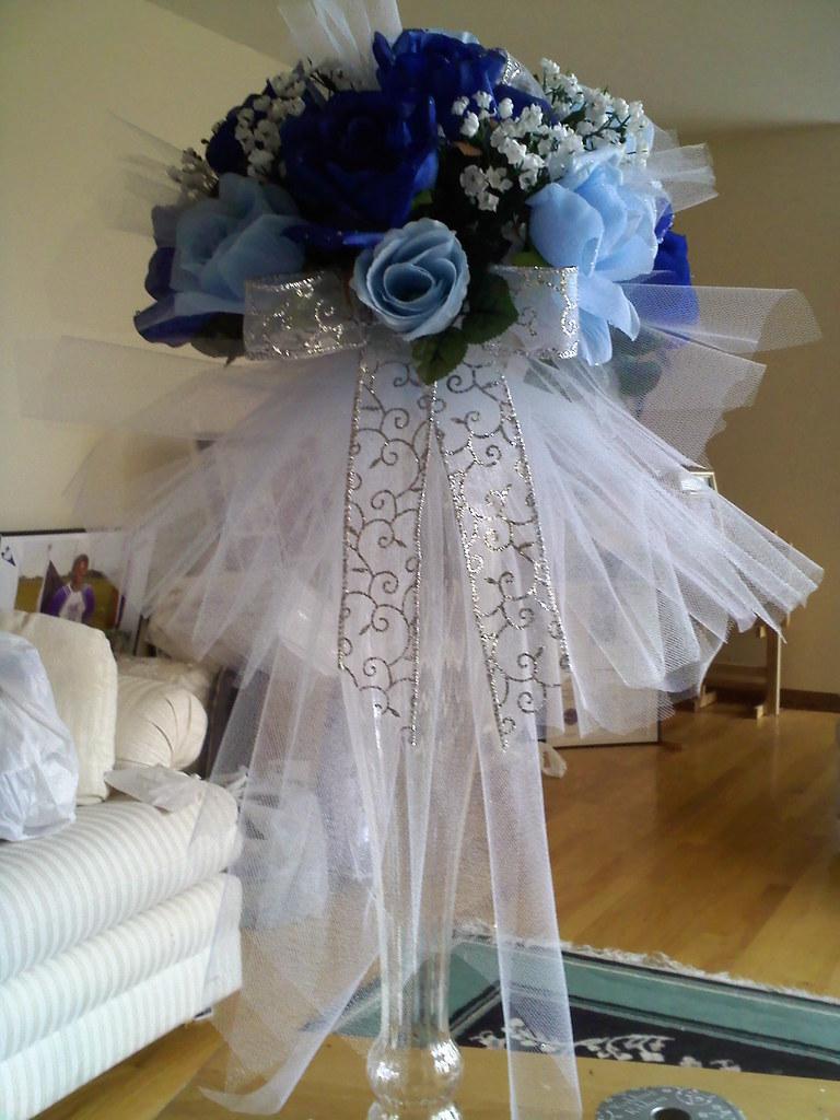 Light/Navy Blue Wedding Centerpiece | Baby Biz Diaper Cakes | Flickr