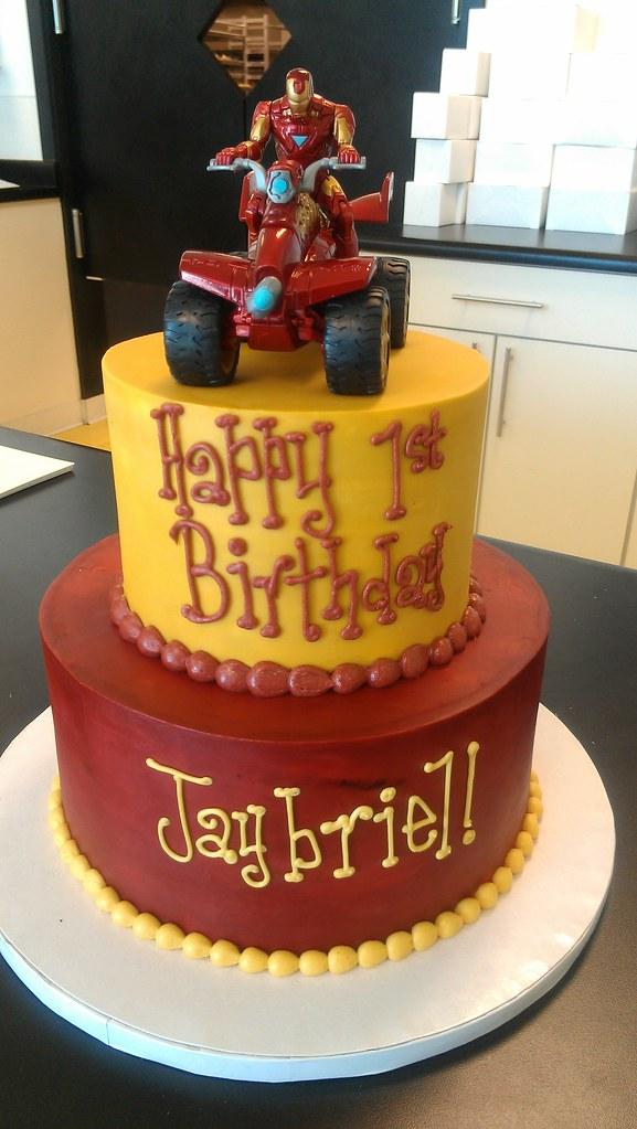 Iron Man Inspired Birthday Cake Customer Provided Toy Top Flickr