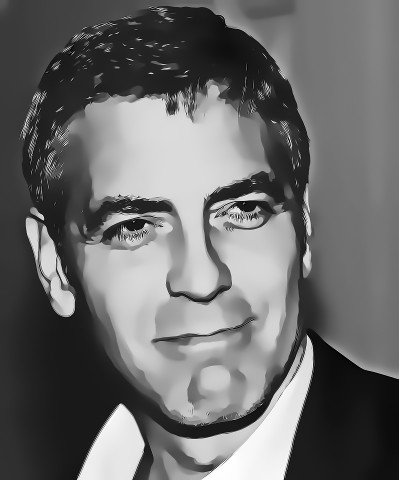 George clooney digital art portrait by david alexander elder by david alexander elder