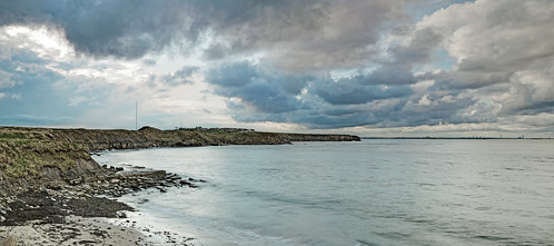 Panoramic of coastline adjacent to St Marys, Whitley Bay | by Johne_uk