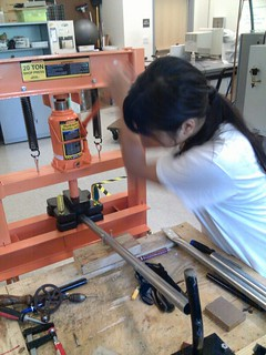 Jessica Kao operating pipe press for Videodome project, SURP | by G A R N E T