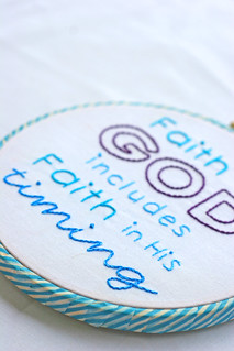 Faith embroidery hoop | by Julia Marie ♥