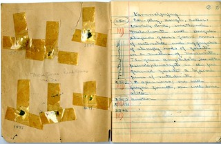 Inside cover and first page of Foshag's Kaminaljuyu-Jade field book | by Smithsonian Institution
