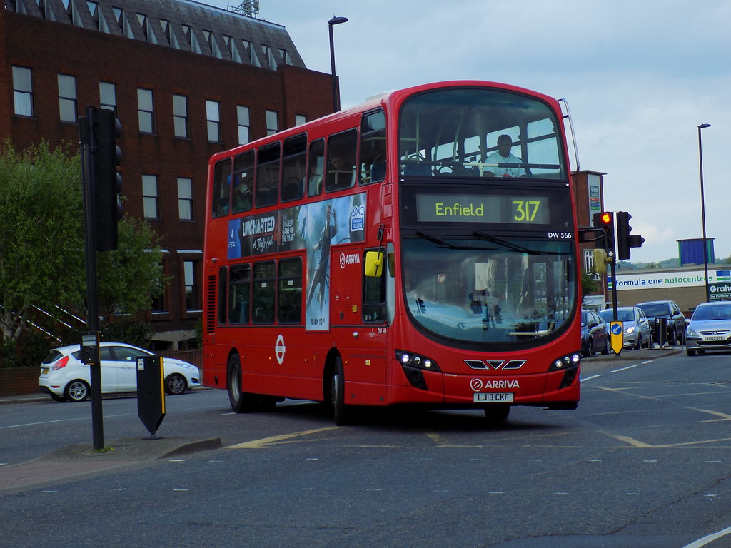 arriva london: lj13 ckf/ dw566 on route 317 to enfield, li… | flickr