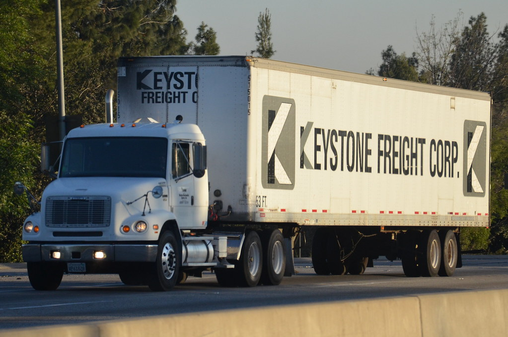 KEYSTONE FREIGHT CORP. - FREIGHTLINER BIG RIG TRUCK (18 WH… | Flickr