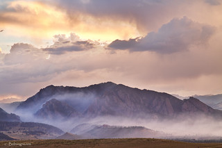 Boulder Colorado Flatirons and The Flagstaff Fire | by Striking Photography by Bo Insogna