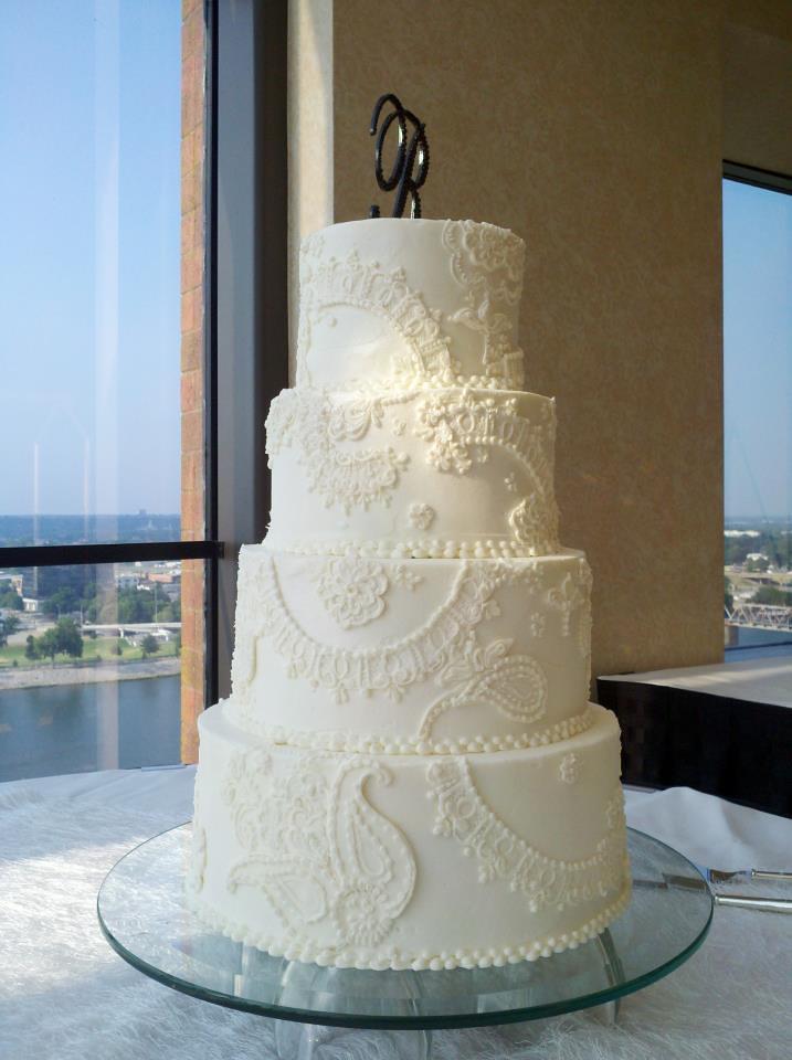 Piped Lace Buttercream Wedding Cake Jan Lewandowski Flickr