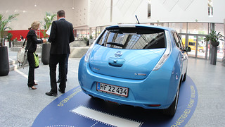 Nissan Leaf on display @ WEVS 2012 | by InformaEnergy