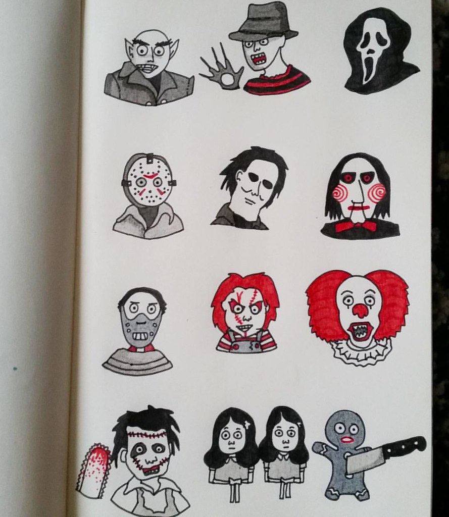 I Love Horror Movies Sketch Drawing Draw Dessin Art Flickr