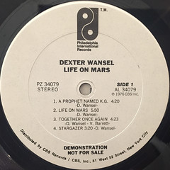 DEXTER WANSEL:LIFE ON MARS(LABEL SIDE-A)