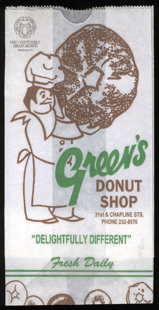 Green's Donut Shop Wax Paper Bag
