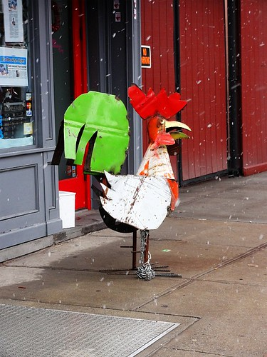 Brooklyn Metal Chicken on a snowy day | by Simon Chilton