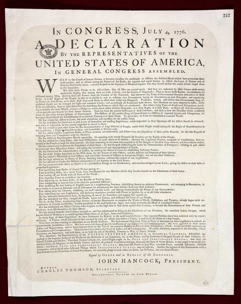 Declaration of Independence: from 1776 to 2083