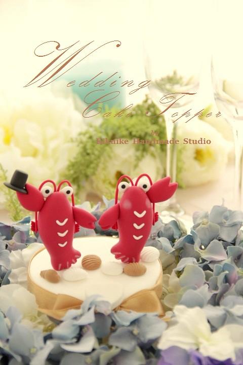 LOVE ANGELS Wedding Cake Topper-love lobster | www.etsy.com/… | Flickr
