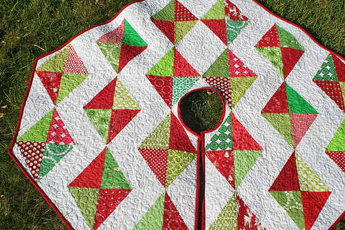 Christmas in July tree skirt | by freshlypieced