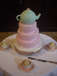 Anyone for tea? A lovely tea-party themed wedding cake at ...