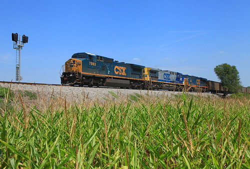 CSX 7863 EVWR HSH1 Caborn IN 22 Jul 2012 | by Train Chaser