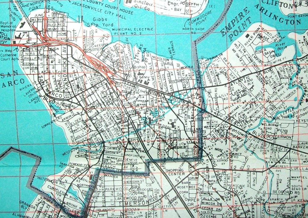 Jacksonville FL Map By Map Service Inc Davecito Flickr - Jacksonville map
