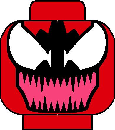 Carnage Head | My own custom lego Carnage head decal ...