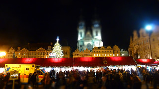 Prague Wenceslas Square Christmas Market Tiltshift | by A.Currell