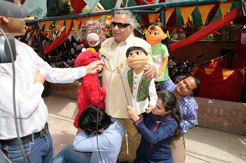 Characters from sim sim hamara participate at world puppet for Puppet consul