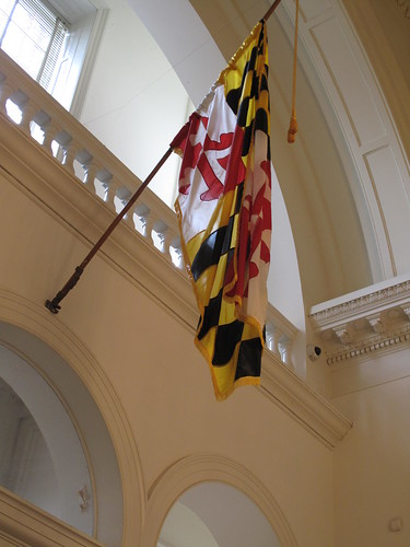 MD flag in the State House center hall | by karma (Karen)