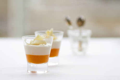 Passionfruit and yoghurt mousee in the Balconies Restaurant © Royal Opera House Restaurants 2012 | by Royal Opera House Covent Garden
