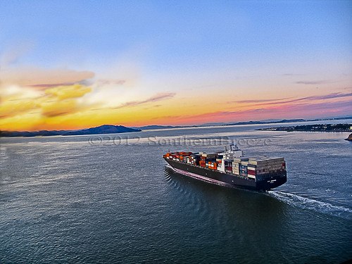 San Francisco Bay Container Ship - hpsw | by SouthernBreeze