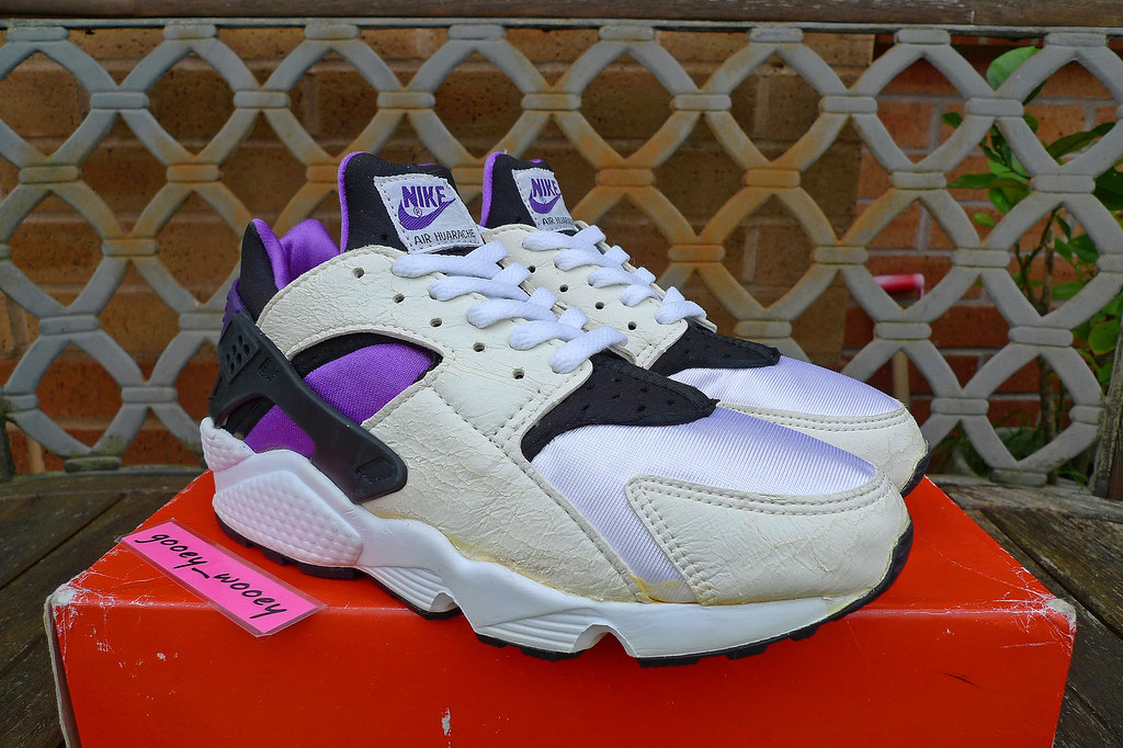 new product fb15f af161 ... real nike air huarache white black purple punch 2092 a7c85 f8402