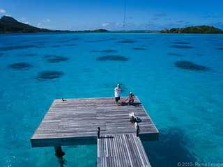 InterContinental Bora Bora le Moana Resort seen from a kite | by Pierre Lesage