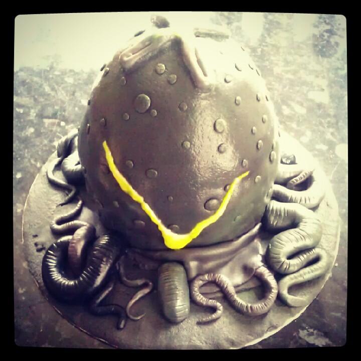 Alien Egg Birthday Cake Mr Hicks Birthday Cake Made By Li Flickr