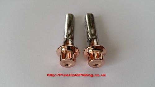 Rose Gold Plated Wheel Bolts | by PureGoldPlating