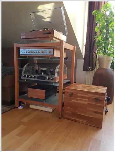 kundenfoto hifi rack kirschbaum holz mit glasb den flickr. Black Bedroom Furniture Sets. Home Design Ideas