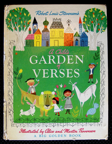 "1951/1966 ""A Child's Garden of Verses"" Alice and Martin Provensen Classic Mid-Century 