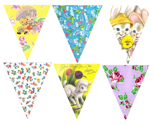 Easter Bunting | For Bustle & Sew Magazine April 2012