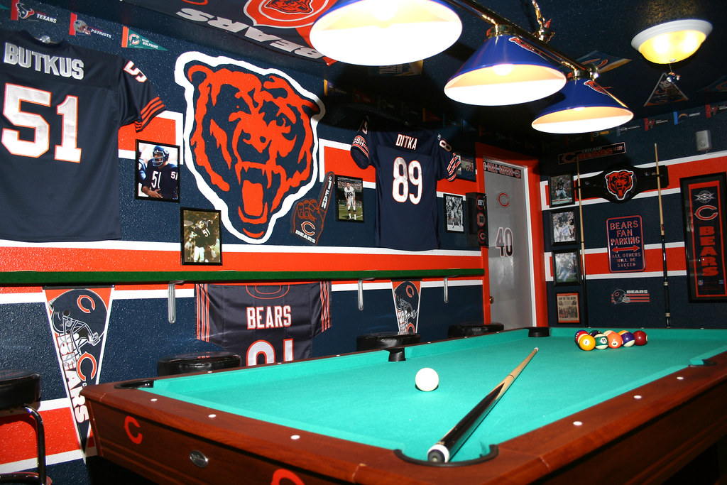 Chicago bears man cave decor images