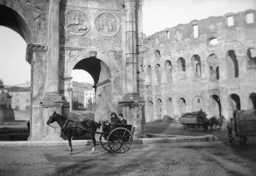 Horse carriages and monuments in Rome, Italy | by Swedish National Heritage Board
