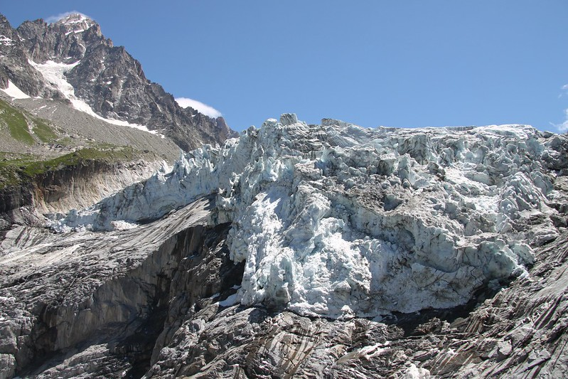 Extreme Environments: Seracs on the Glacier d'Argentière with the Aiguille du Chardonnet in the background