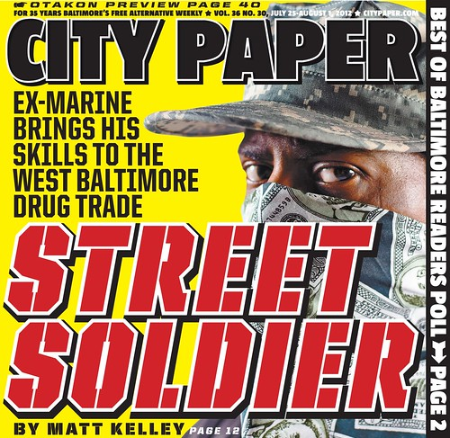 "City Paper Cover ""Street Soldier"" feature story 