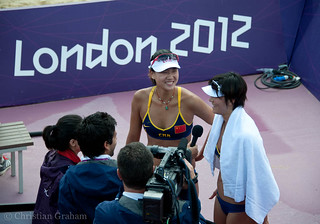 Russia vs China - Women's Beach Volleyball, London 2012 | by pastamaster39