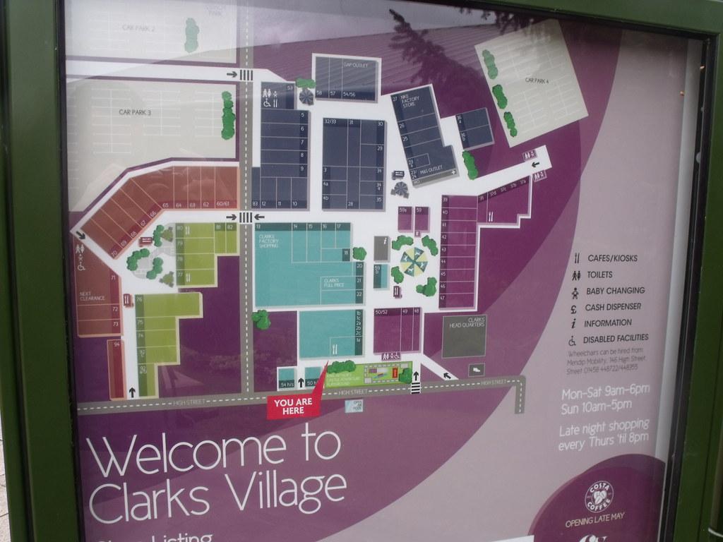 Clarks Village Map Clarks Village   Street, Somerset   map   Welcome to Clark… | Flickr Clarks Village Map