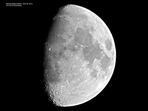 Waxing Gibbous Moon - June 28, 2012 | by spacemike