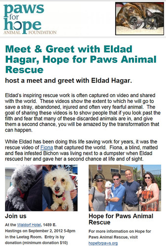 Coming to Vancouver, September 2nd  :-) | by Eldad Hagar (Please support Hope For Paws)