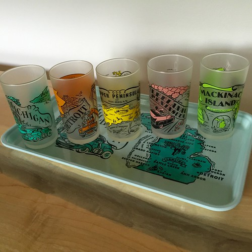 Michigan glassware & trays | by valatal