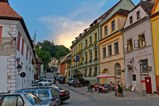 Sighisoara at dusk (Romania) | by slawekkozdras