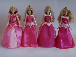 Aurora (Sleeping Beauty) - Comparing Disney 12'' Poseable Dolls - 2011-2012 - Full Front View | by drj1828